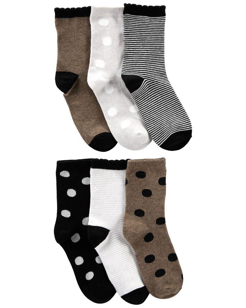 6-Pack Striped Socks, , hi-res