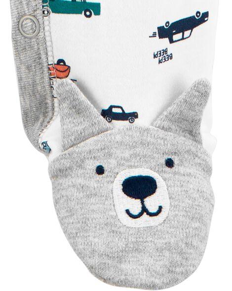 Dog Cars Snap-Up Cotton Sleep & Play