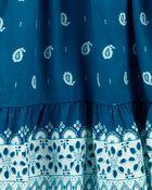 Paisley Poplin Dress, , hi-res
