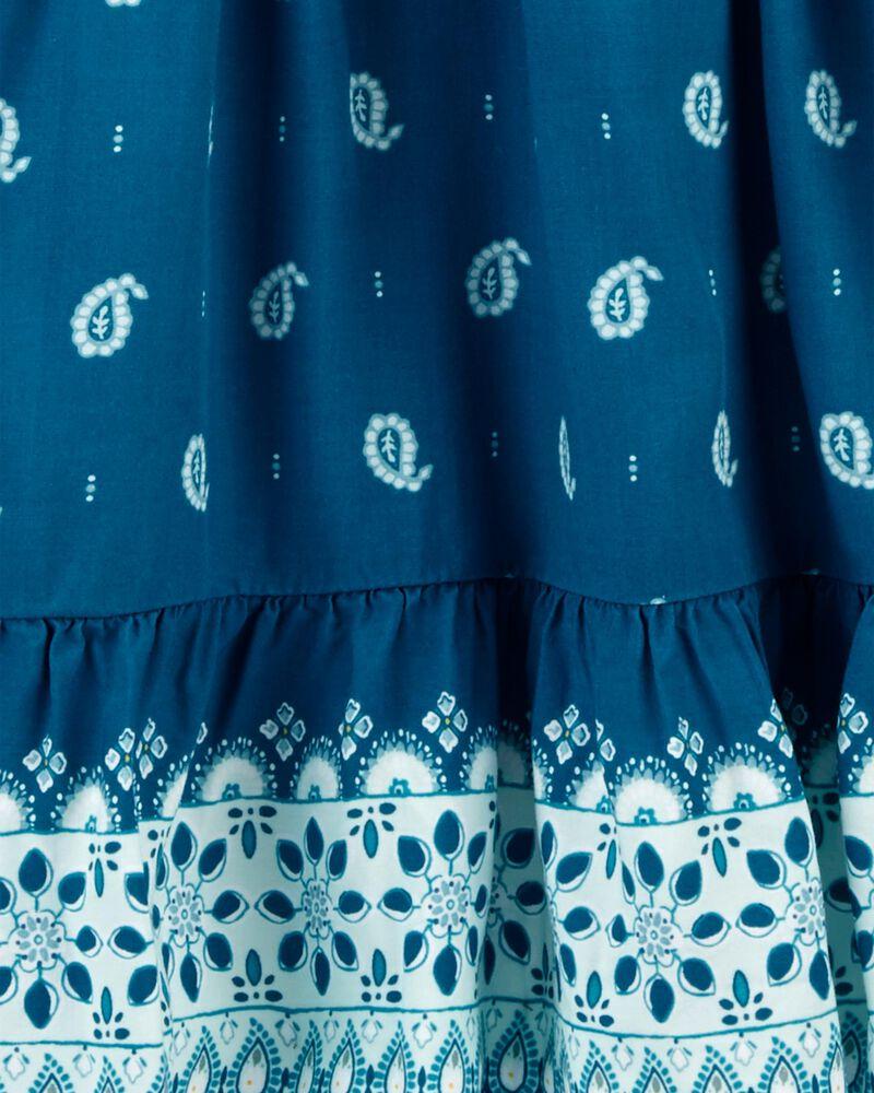 Robe en popeline à imprimé style cachemire, , hi-res