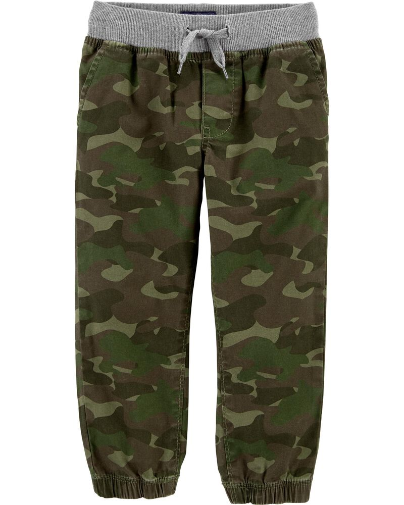 Camo Stretch Joggers, , hi-res