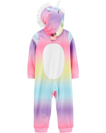 1-Piece Unicorn Hooded Fleece Footl...