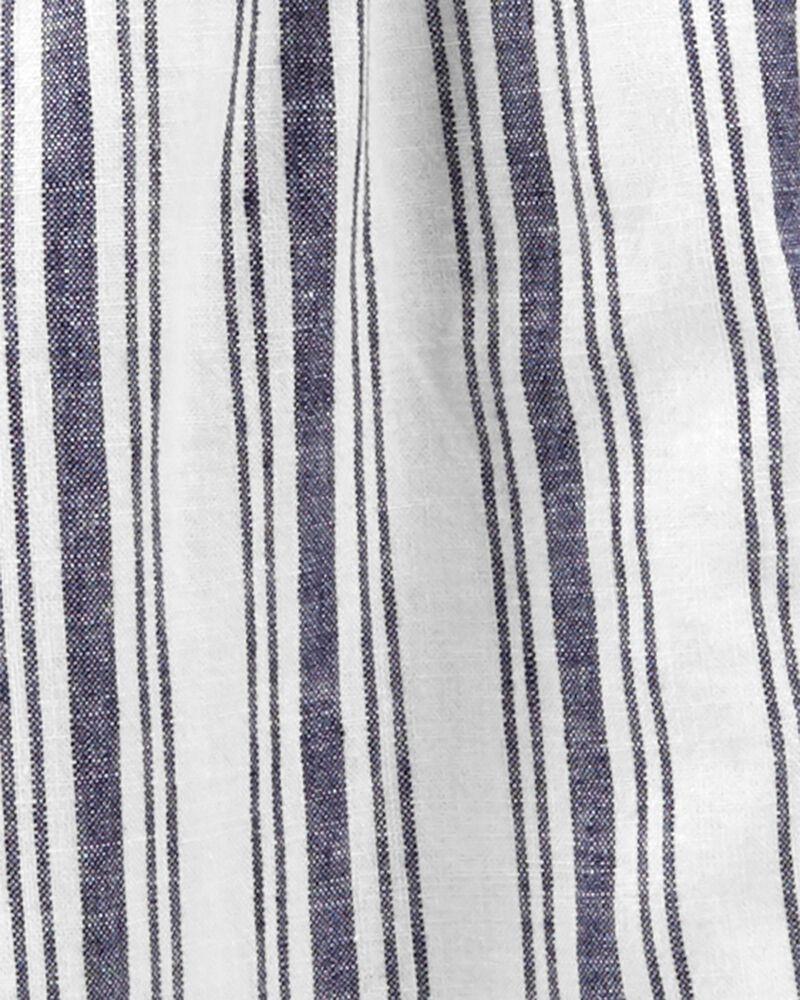 Striped Wide Leg Crop Jumpsuit, , hi-res