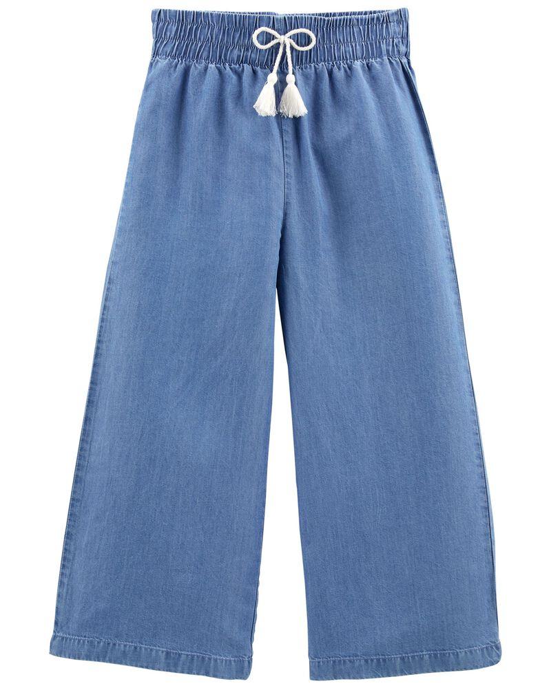 Pantalon à jambe ample en chambray Tween, , hi-res