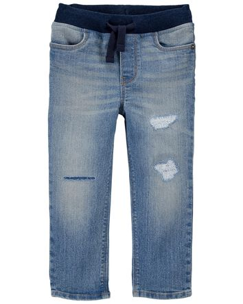 Tapered Relaxed Pull-on Jeans in Na...