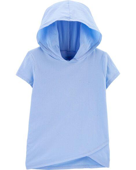 T-shirt en jersey avec capuchon et brillants