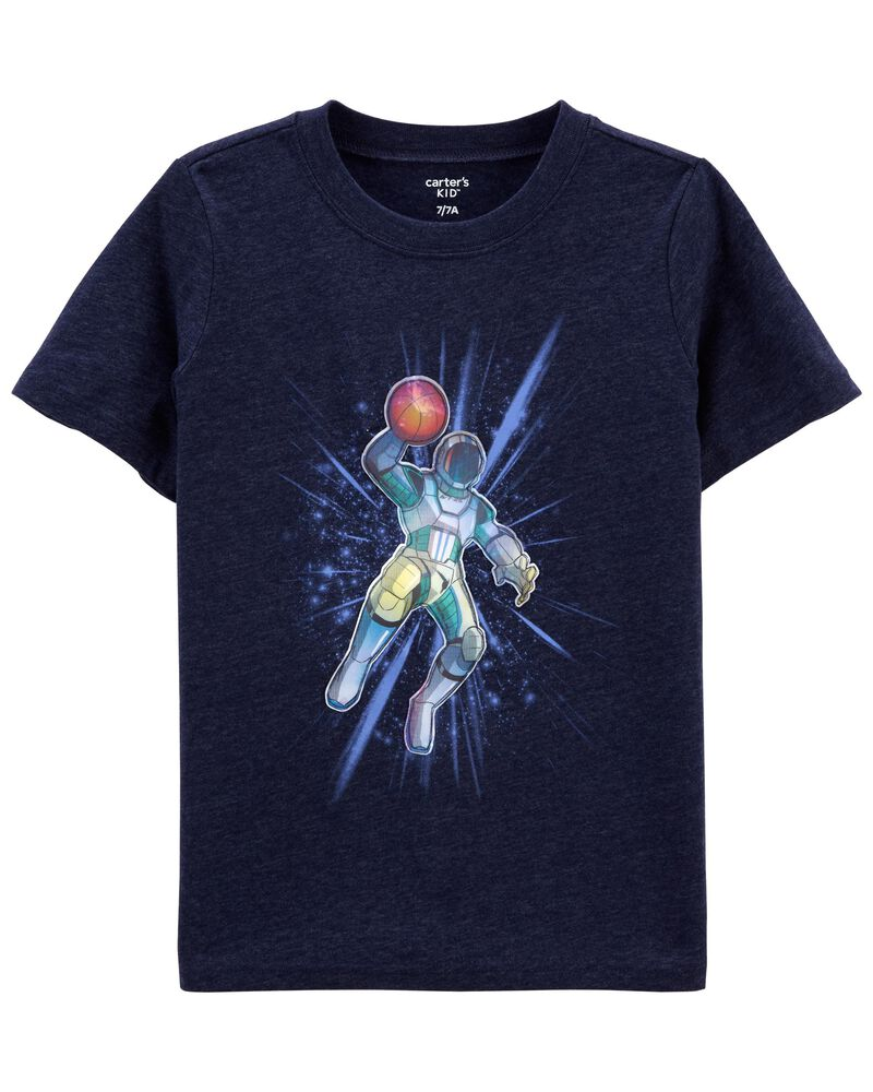 T-shirt en jersey Espace, , hi-res