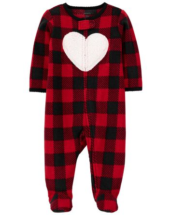 Buffalo Check Zip-Up Sleep & Play