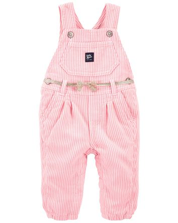 Stretchy Hickory Stripe Overalls