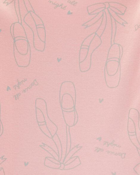 4-Piece Ballet Snug Fit Cotton PJs