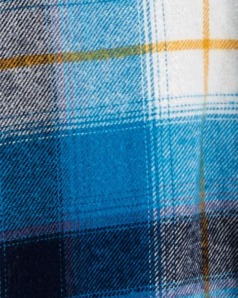 Cache-couche en flanelle à motif écossais