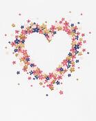T-shirt cœur à manches avec nœuds, , hi-res