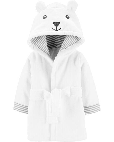 Bear Hooded Terry Robe