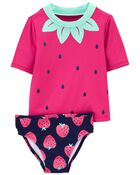 Strawberry 2-Piece Rashguard Set, , hi-res