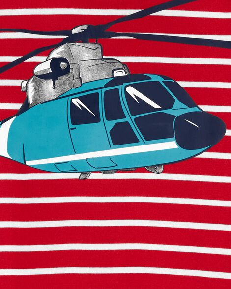 4-Piece Helicopter Snug Fit Cotton PJs