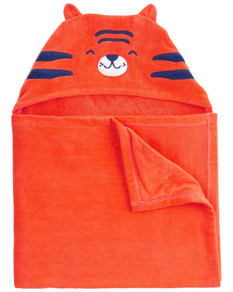 Serviette en tissu-éponge à tigre, , hi-res