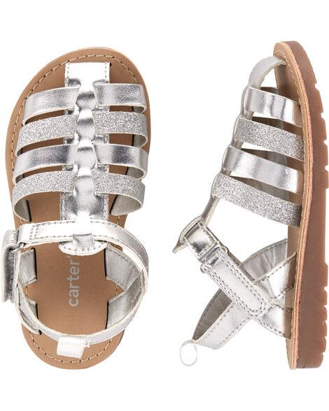 Silver Fisherman Sandals