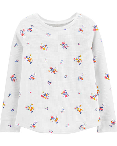 Scoop Hem Floral Thermal Top