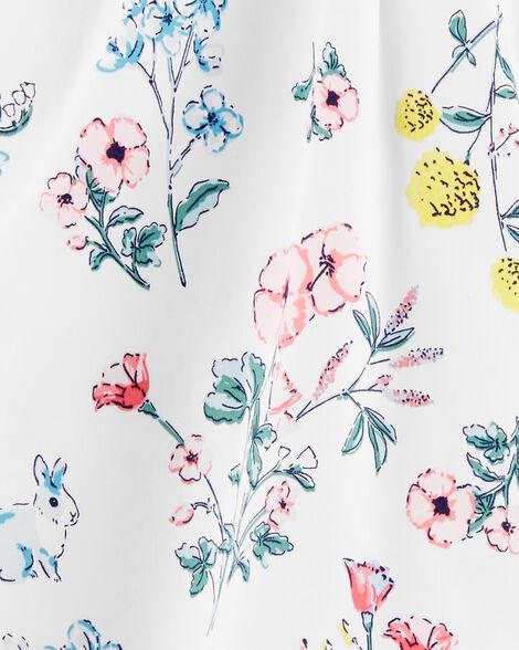 Robe de satinette fleurie