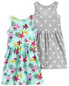 2-Pack Tank Jersey Dresses, , hi-res