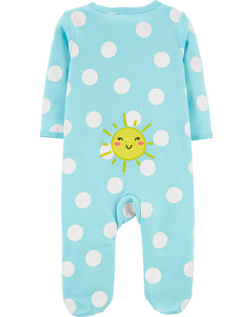 Sun Polka Dot 2-Way Zip Cotton Slee...