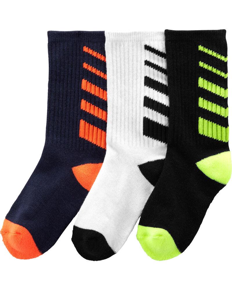 3-Pack Athletic Crew Socks, , hi-res