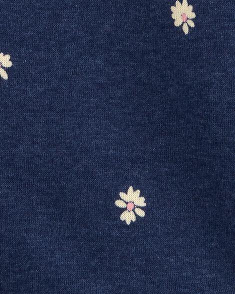 Peplum Hem Logo Fleece Hoodie