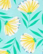 Pyjamas 4 pièces en coton ajusté à fleurs, , hi-res