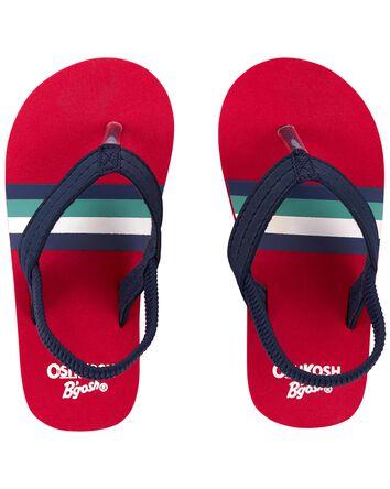 Retro Stripe Flip Flops