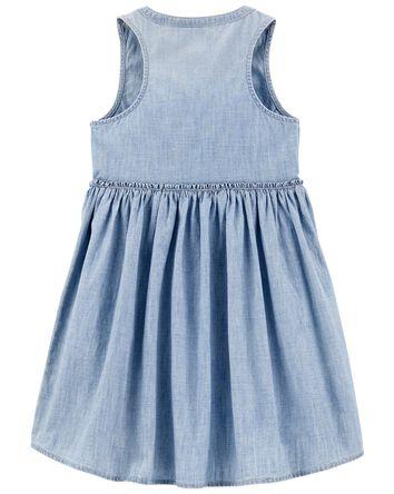 Chambray Shirt Dress in Barcelona W...