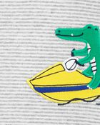 Barboteuse à boutons-pression et alligator, , hi-res