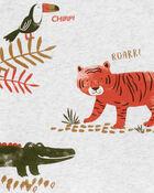 Ensemble 3 pièces petit short motif animaux, , hi-res