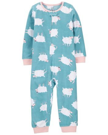 1-Piece Sheep Fleece Footless PJs