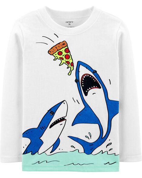 Pizza Shark Jersey Tee