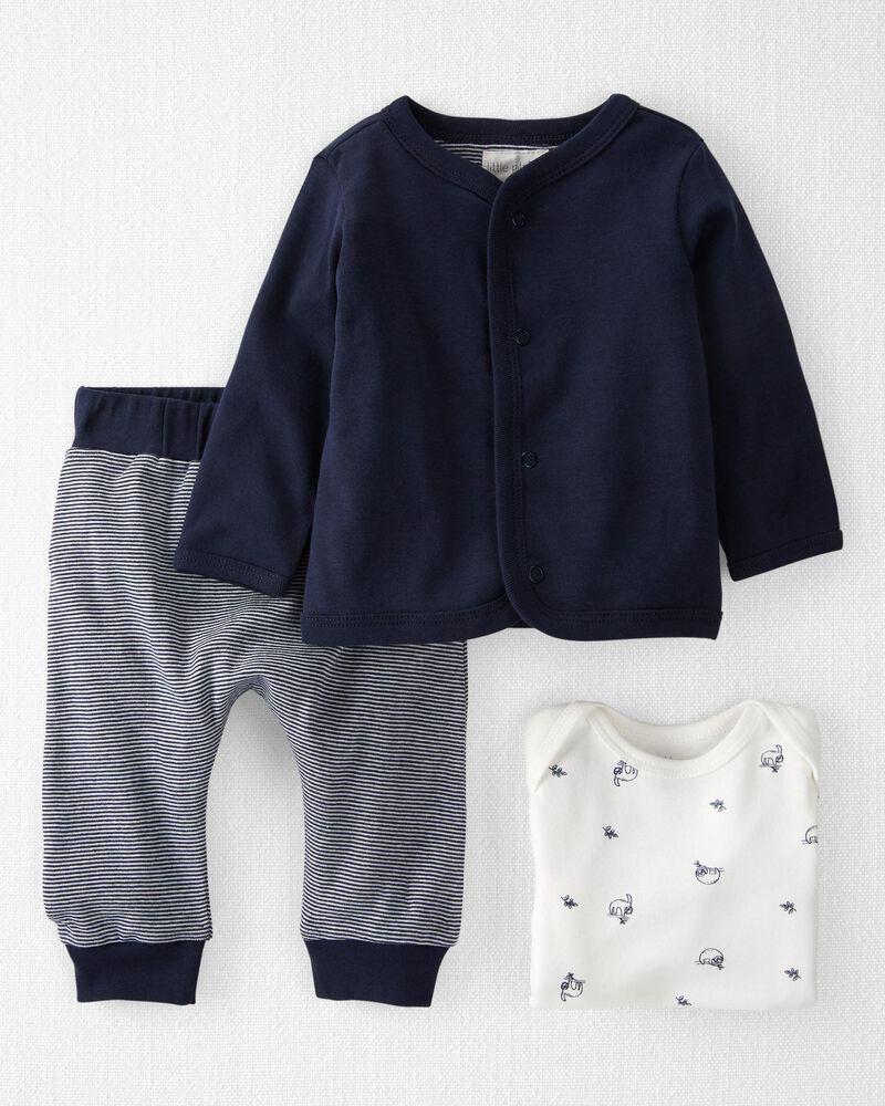 3-Piece Organic Cotton Cardigan Set, , hi-res