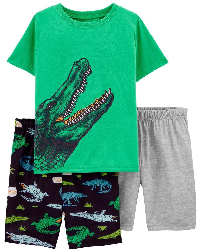 3-Piece Alligator Loose Fit PJs, , hi-res