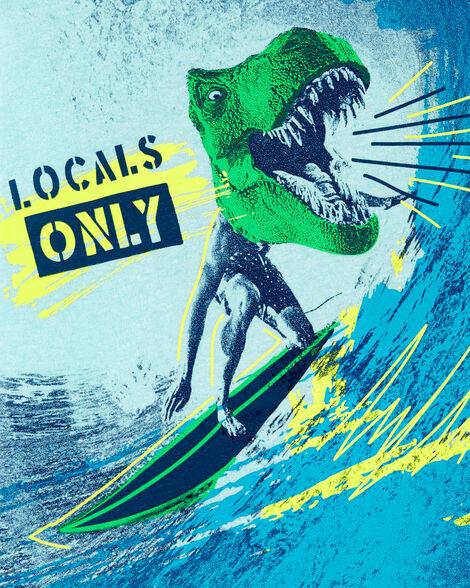Dinosaur Surfer Graphic Tee