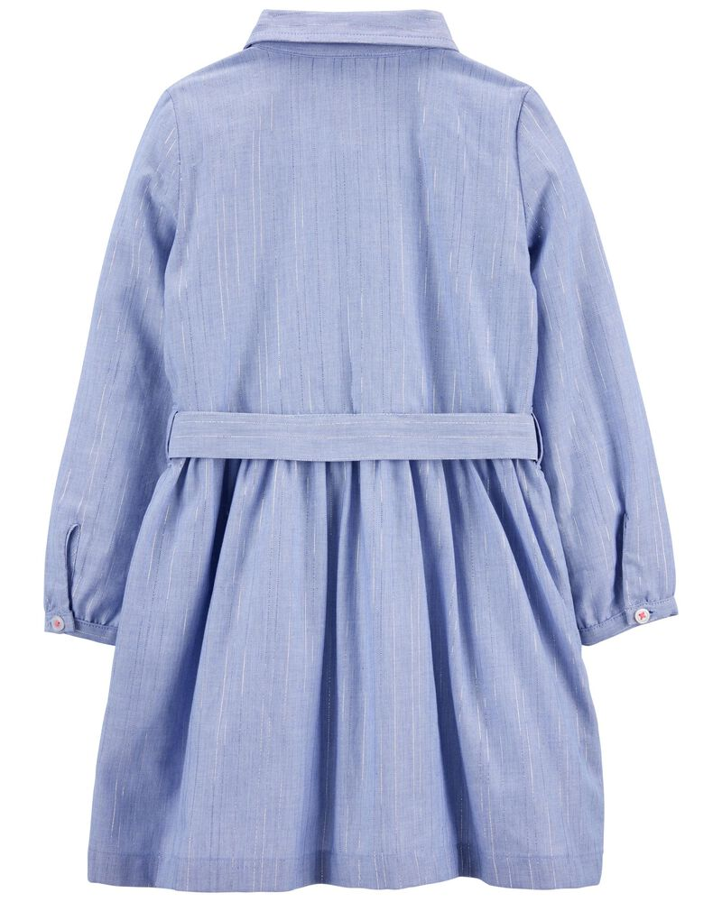 Robe tissée en chambray, , hi-res