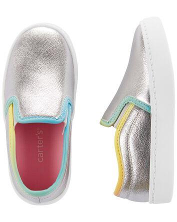 Metallic Slip-On Shoes