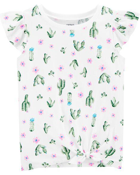 Cactus Tie-Front Jersey Tee