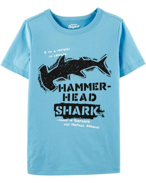 T-shirt à imprimé original de requin