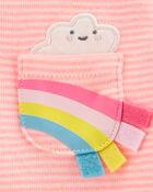 2-Piece Striped Rainbow Bodysuit Pant Set, , hi-res