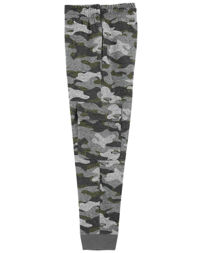 Pantalon de jogging cargo en jersey bouclette, , hi-res