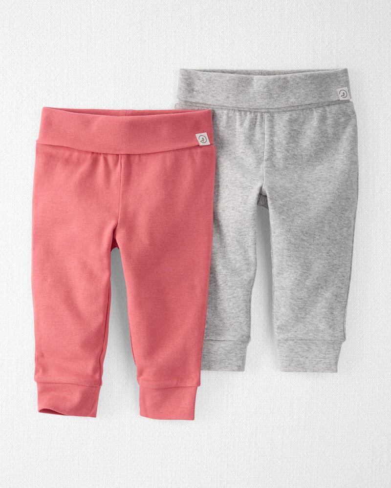 2-Pack Organic Cotton Grow-With-Me Pants, , hi-res