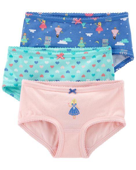 Emballage de 3 paire de sous-vêtements en coton extensible
