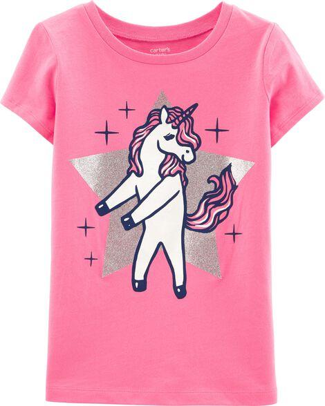 Glitter Unicorn Floss Jersey Tee