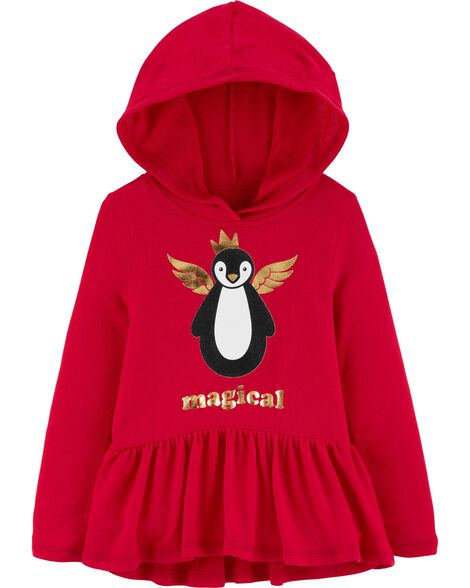 Magical Penguin Hooded Tunic
