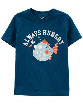 T-shirt en jersey à imprimé de pois...