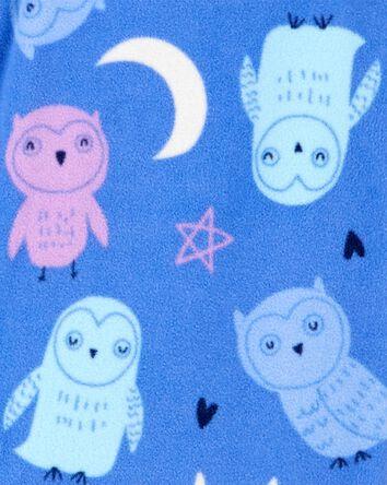 1-Piece Owl Fleece Footless PJs