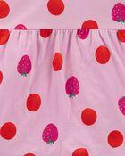 2-Piece Strawberry Top & Knit Denim Pant Set, , hi-res